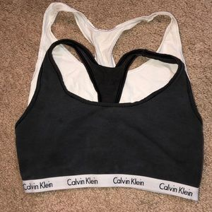 Black & White Calvin Klein Bra Bundle Size M
